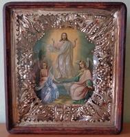 Икона в киоте Воскресение Христово