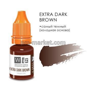 "Extra Dark Brown, пигмент для ПМ бровей, ""Wizart"" 10ml"