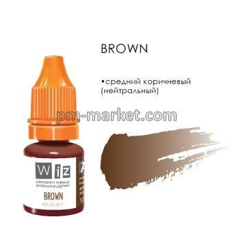 "Brown, пигмент для ПМ бровей, ""Wizart"" 5ml"
