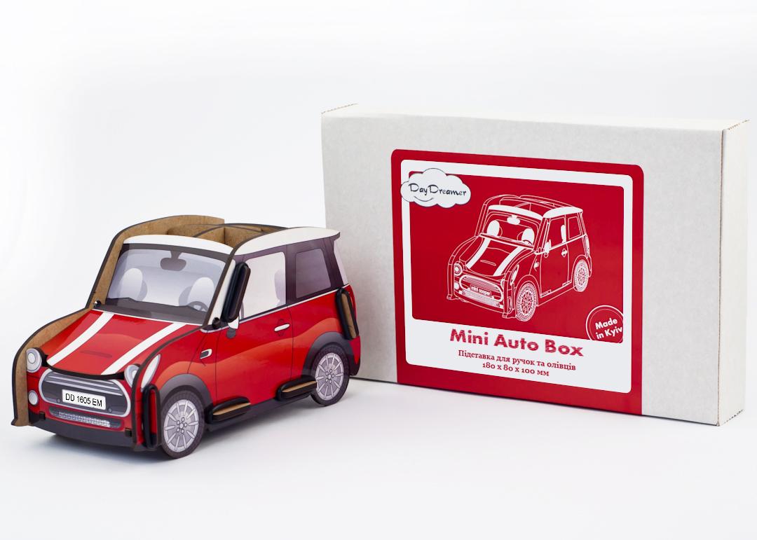 Органайзер для ручек и карандашей Автомобиль - Mini Auto Box (красный)