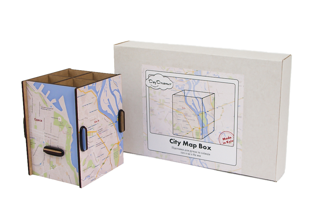 Органайзер для ручок Карта Міста – City Map Box