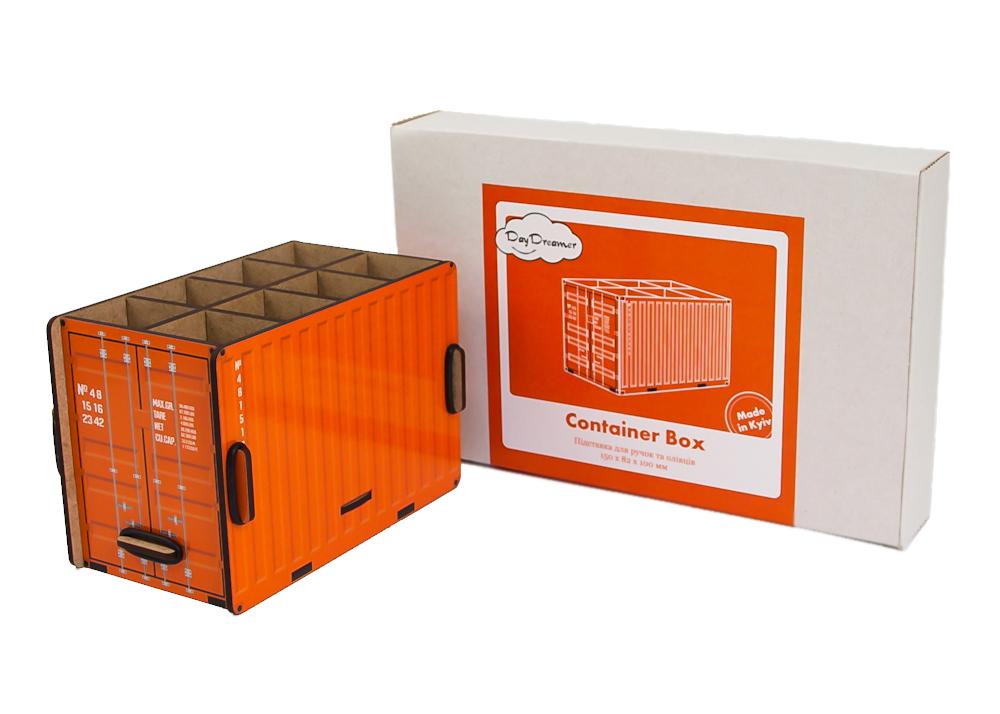 Органайзер для ручок Контейнер (помаранчевий) – Container Box