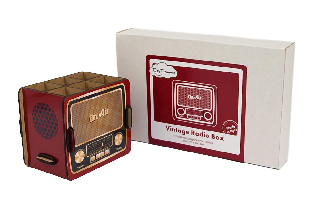 Органайзер для ручок Вінтажне Радіо – Vintage Radio Box