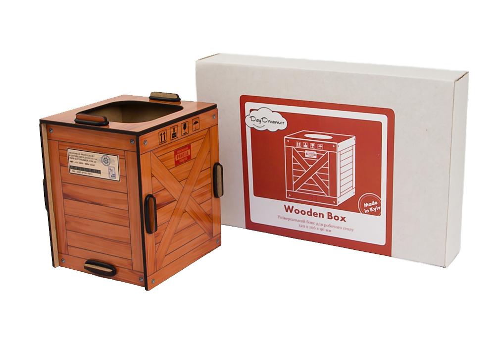 Універсальний настільний органайзер Дерев'яний Контейнер – Wooden Box