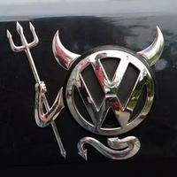 3D наклейка на авто на логотип Чертик