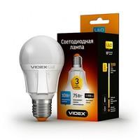 Лампа светодиодная (LED) VIDEX A60 10w E27 3000k 220V