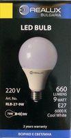 Лампа светодиодная (LED) Realux 9w E27 6000k 220V
