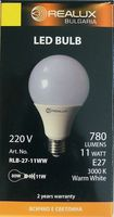 Лампа светодиодная (LED) Realux 11w E27 3000k 220V