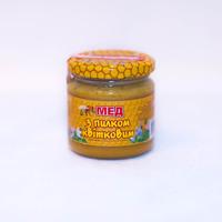 Мед з пилком квітковим 230г.