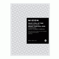 Маска листовая для лица осветляющая с экстрактом лимона MIZON ENJOY VITAL-UP TIME TONE UP MASK