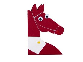 """Bordeaux Horse"" Card"