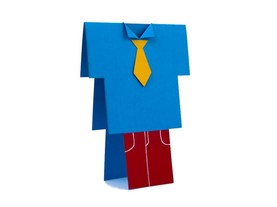 """Blue textured Suit"" Card"