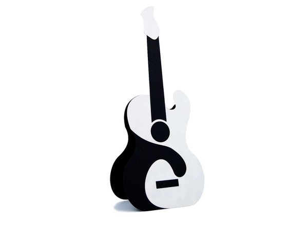 """Black& White Guitar"" Сard"