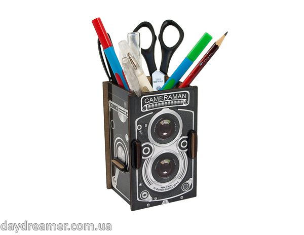 Pen Holder - Photo Camera Box