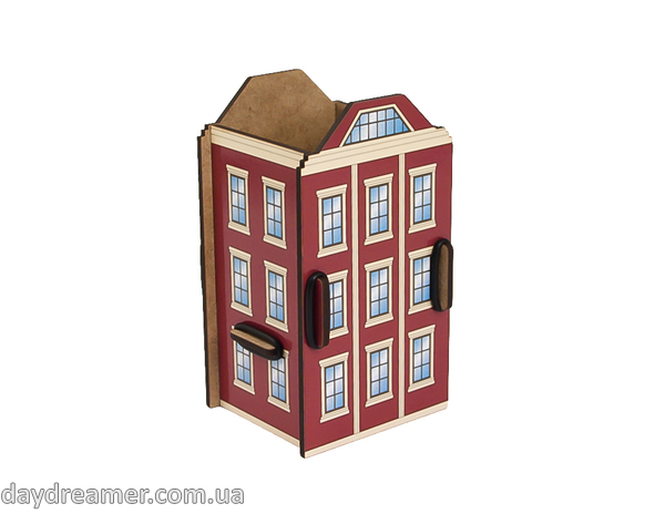 pen holder london house box, pencil holder, office desk organizer, stationary, constructor, daydreamer