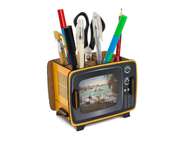 Pen Holder - Retro TV Box