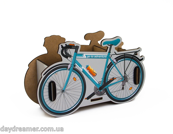 pen holder bicycle box, pencil holder, office desk organizer, stationary, constructor, daydreamer