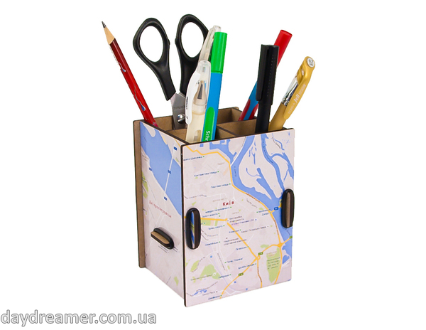 Pen Holder - City Map Box