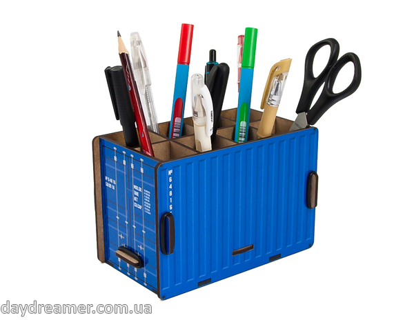 Pen Holder - Container Box (blue)
