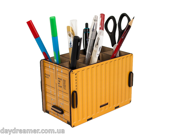 Pen Holder - Container Box (yellow)