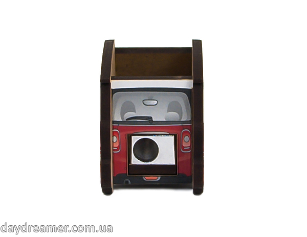 pencil sharpener mini auto red, stationary, daydreamer shop, made in ukraine
