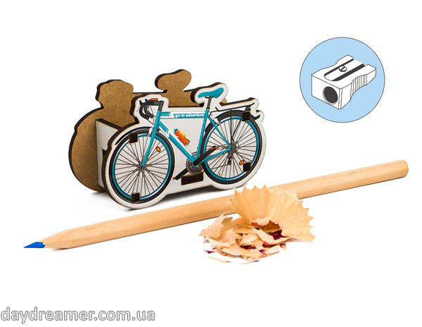 pencil sharpener bicycle, stationary, daydreamer shop, made in ukraine