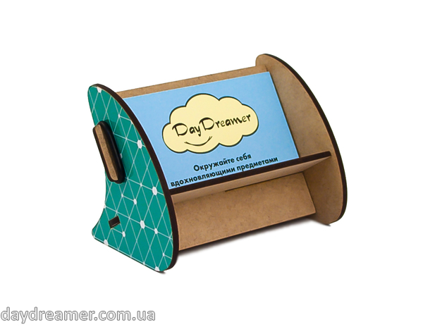 stand for business cards geometriс, stationary, constructor, daydreamer, made in ukraine