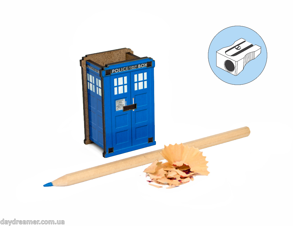 Pencil Sharpener - Police Box