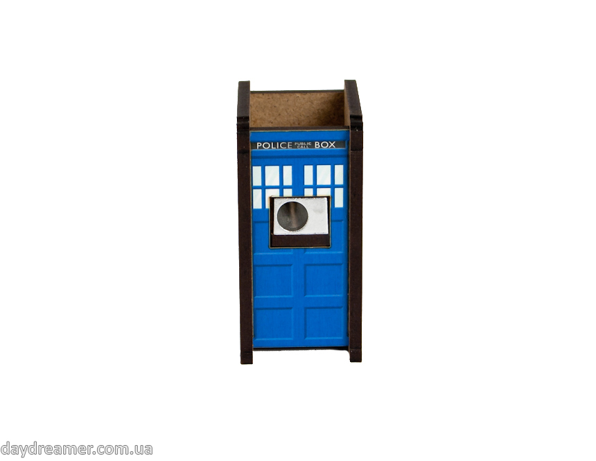 pencil sharpener police box, stationary, daydreamer shop, made in ukraine