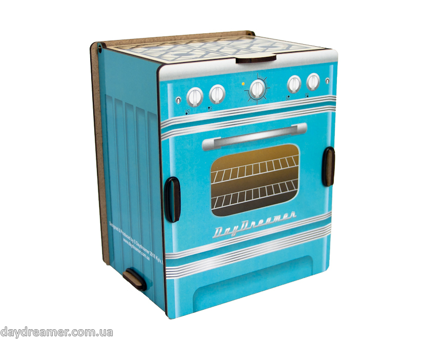 Kitchen Spice Box - Retro Stove (turquoise)