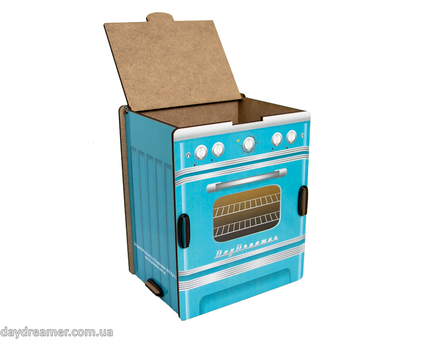 kitchen spice box retro stove (turquoise), dispenser spice box, spice organizer box, kitchen organizer, daydreamer shop, made in ukraine