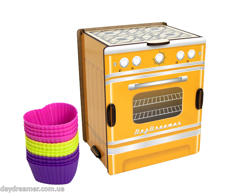 kitchen spice box retro stove (yellow), dispenser spice box, spice organizer box, kitchen organizer, daydreamer shop, made in ukraine