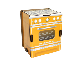 Kitchen Spice Box - Retro Stove (yellow)