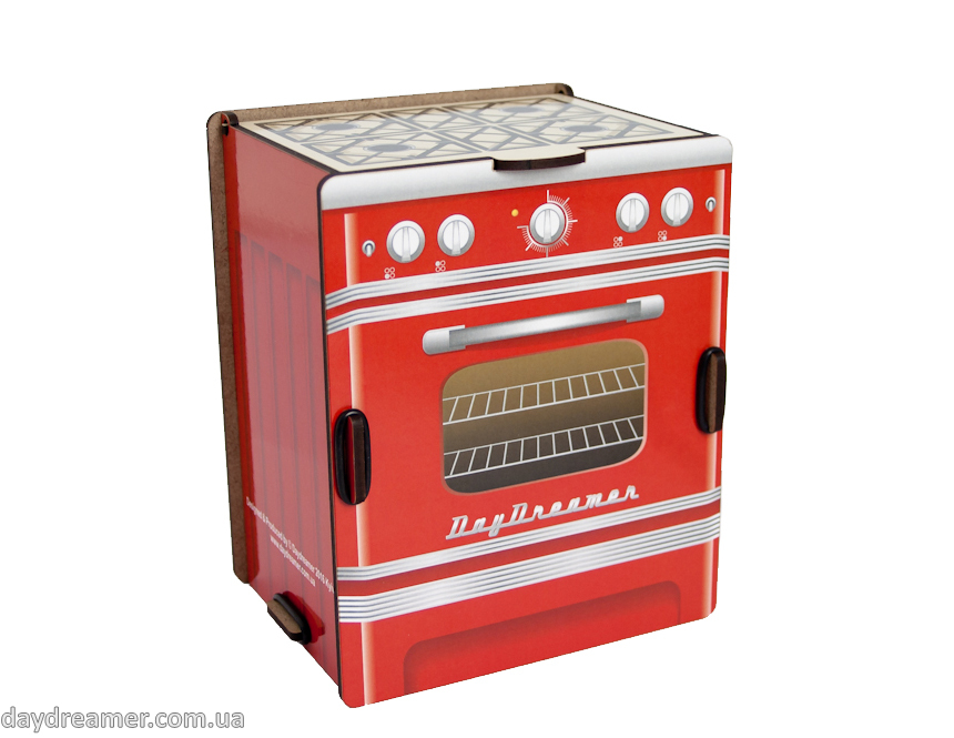 Kitchen Spice Box - Retro Stove (red)