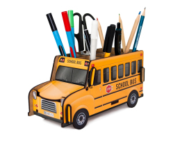 Pen Holder - School Bus Box