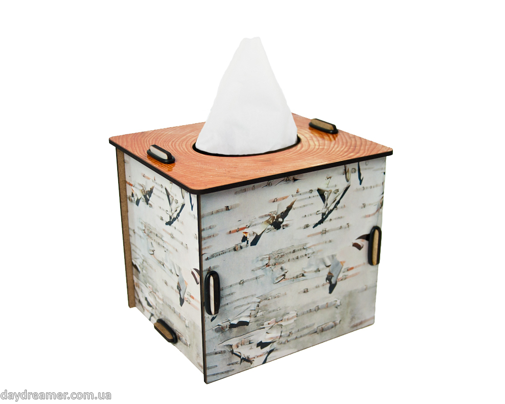 Napkins Box - Birch, kitchen tissue box daydreamer shop, made in ukraine
