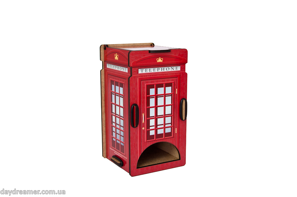 tea bags dispenser telephone box, tea bags organizer, kitchen organizer, daydreamer shop, made in ukraine