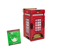 Tea Bags Dispenser - Telephone Box