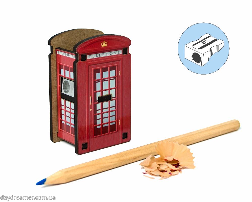 Pencil Sharpener - Telephone Box