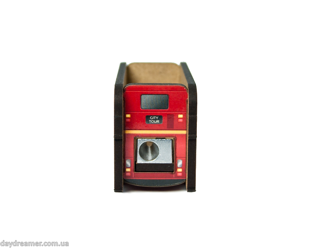 pencil sharpener london bus, metal blade, creative gift, stationary, daydreamer shop, made in ukraine