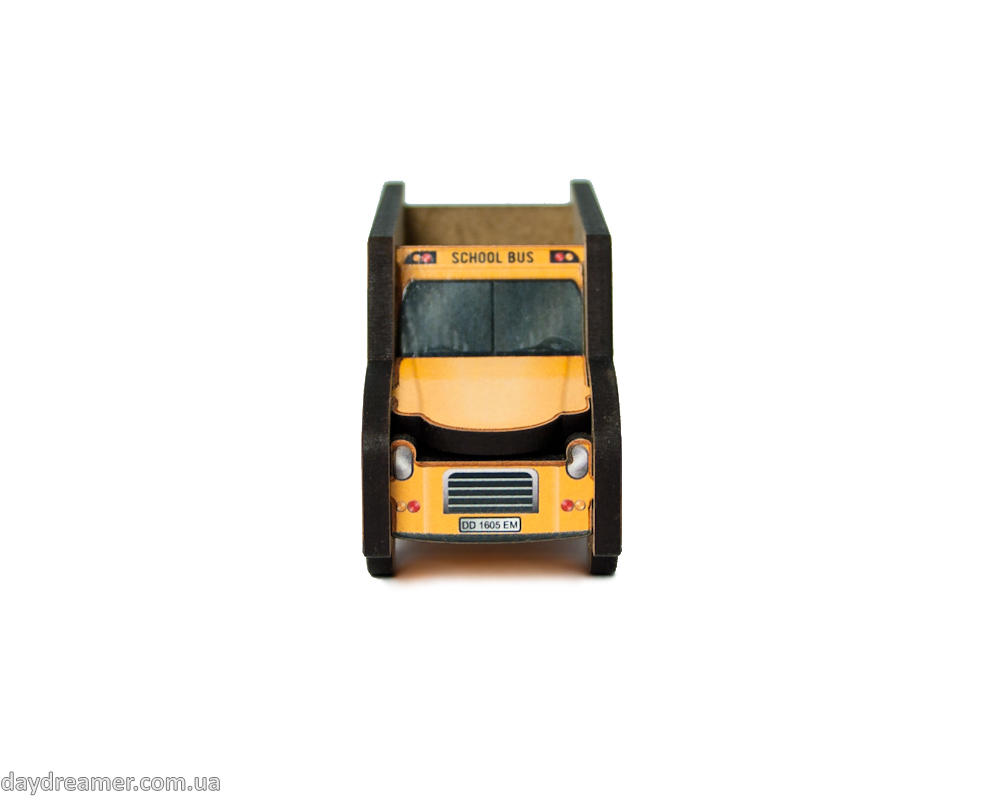 pencil sharpener school bus, metal blade, creative gift, stationary, daydreamer shop, made in ukraine