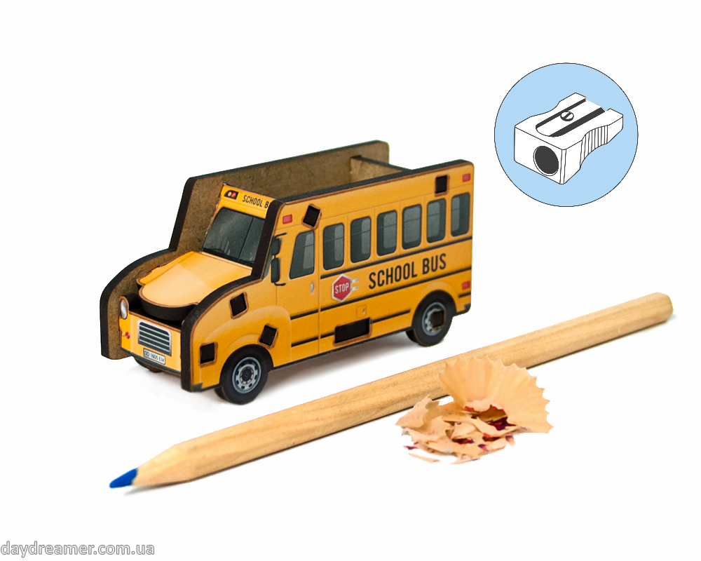 Pencil Sharpener - School Bus