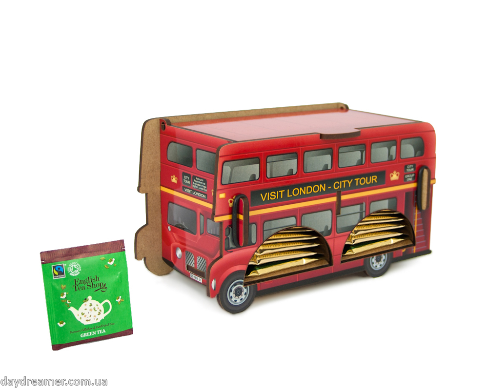 Tea Bags Dispenser - London Bus