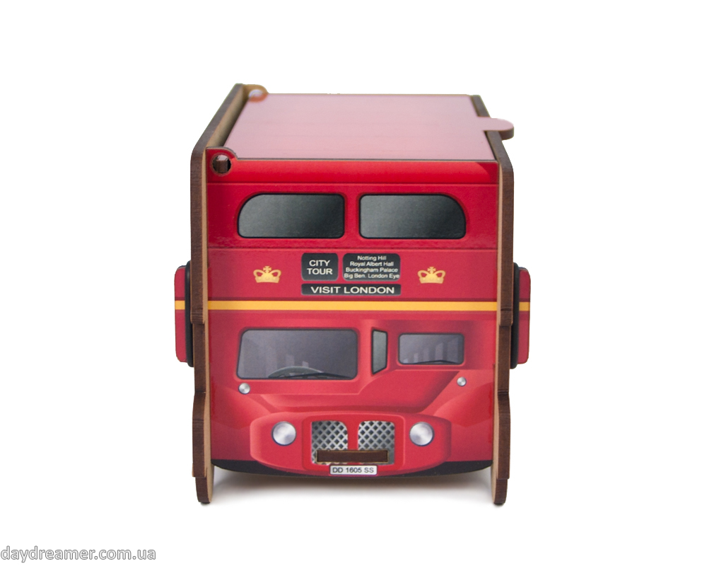 tea bags dispenser london bus, tea bags organizer, kitchen organizer, daydreamer shop, made in ukraine