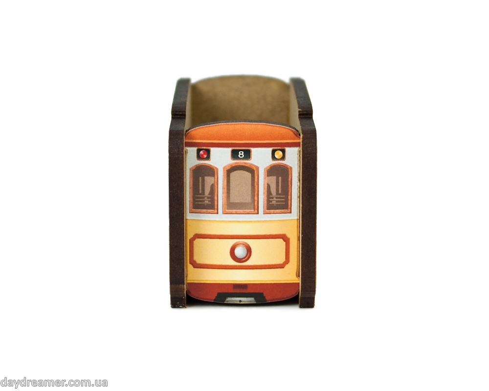 pencil sharpener retro tram, metal blade, creative gift, stationary, daydreamer shop, made in ukraine