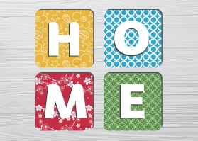 Coasters Home 4pc