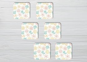 Coasters Spring Leafs 6pc