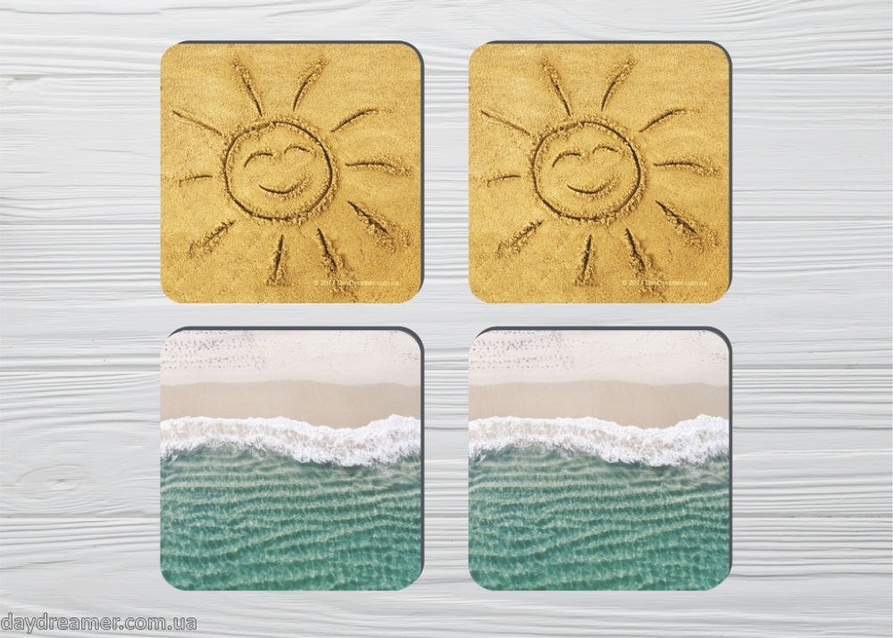 Coasters Sun & Sea 4pc