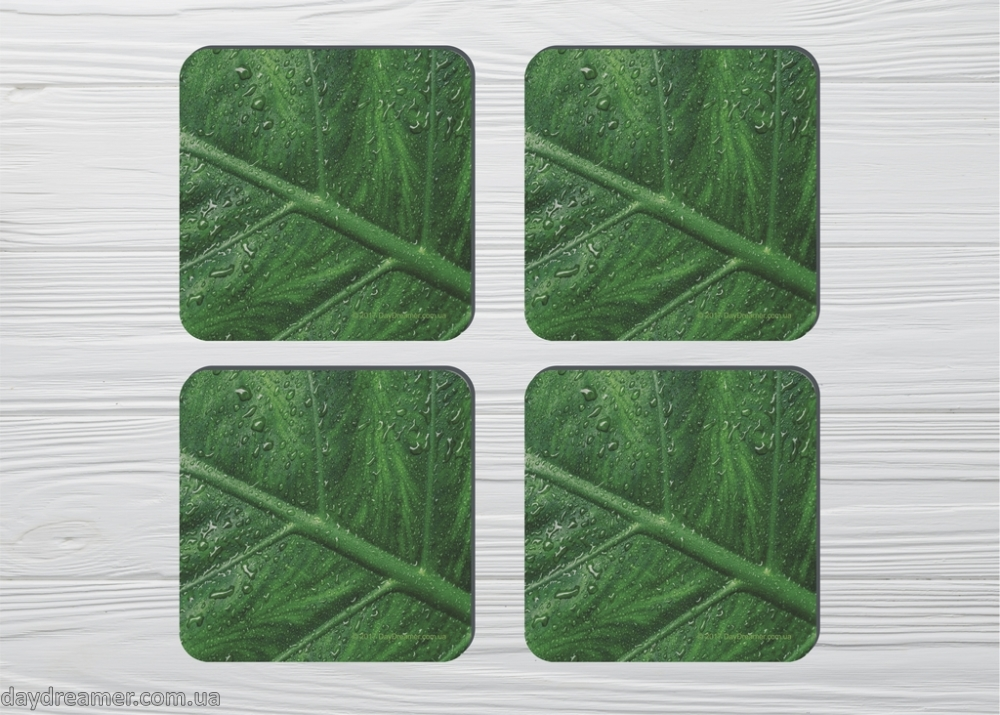 Coasters Green Leafs (4pc)