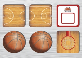 Coasters Basketball (6pc)